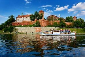 polish Wawel sightseeing from wisla