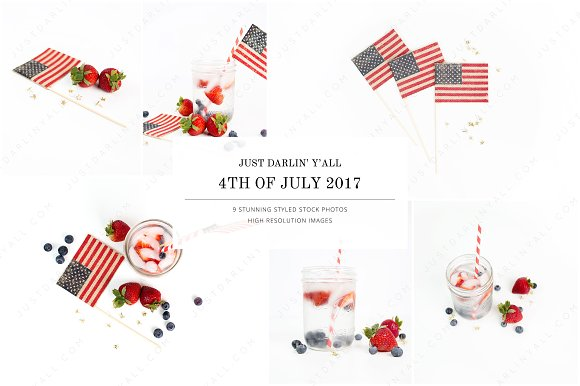 4th Of July Styled Stock Photos HM