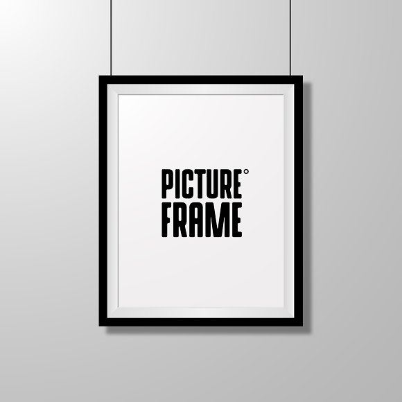 Realistic Picture Frame Isolated