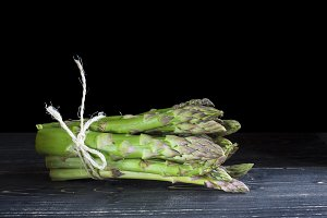 Bunch of wild green asparagus