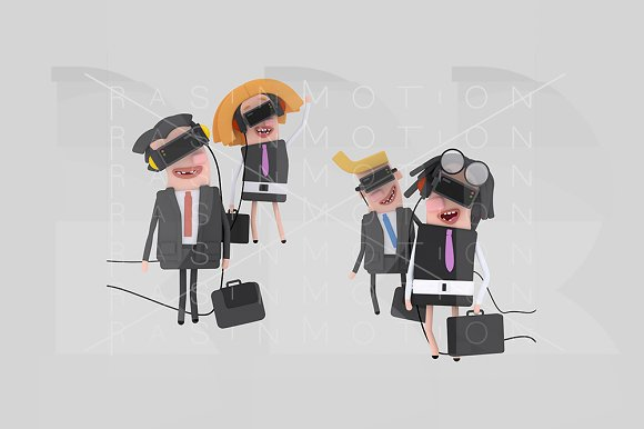 Business People With VR Set