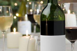 Festive wine still life