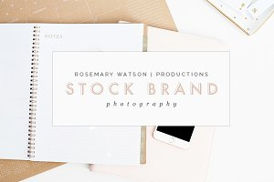 Blush Desk & iPhone Stock Photos