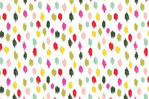 Brushy Scribbles Seamless Pattern