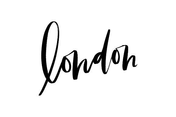 London Brush Hand Lettered Word