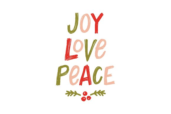 Sketch Joy Love Peace Lettering