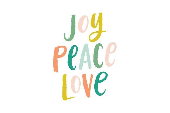 Brush Lettering Joy Peace Love