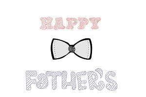 Happy Father's Day, text and bow