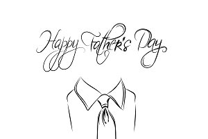 Happy Father's Day, text and tie