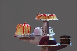 Five delicious sweet cakes