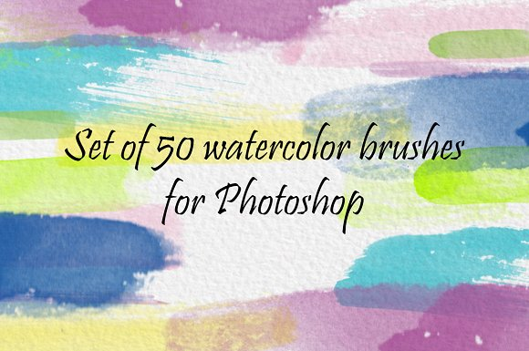 Set Of 50 Watercolor Brushes