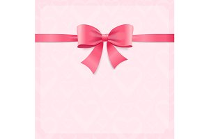 Card witch Pink Ribbon and Bow