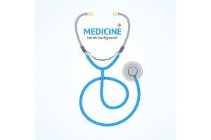 Flat Stethoscope Medicine