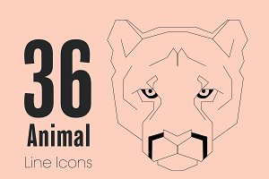 36 Animal Line Icons