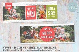 HC023 Christmas Facebook Timeline