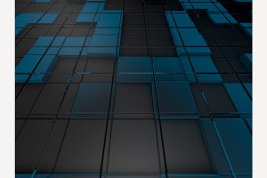 Cube abstract background.