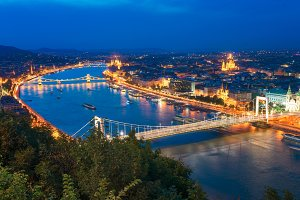 Beautiful Capital City of Budapest in Hungary