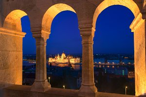 Beautiful Fisherman's Bastion in Budapest Hungary