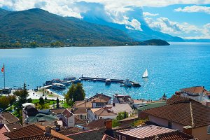Ohrid in a sunny day. Macedonia
