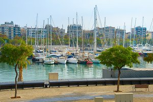 Barcelona Port Vell marina, Spain