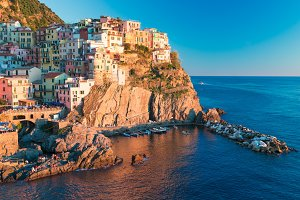 Beautiful Italian Town of Vernazza