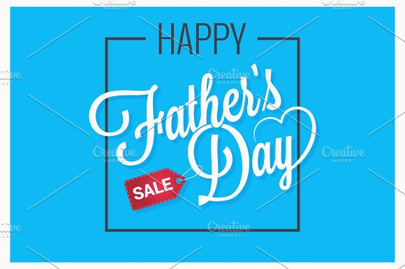 fathers day sale logo background