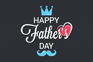 fathers day logo background