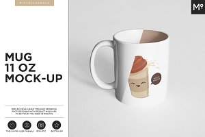 The Mugs 11 oz. and Box Mock-up