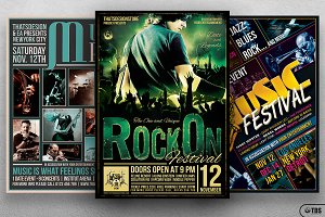 Live Band Flyer Bundle V3