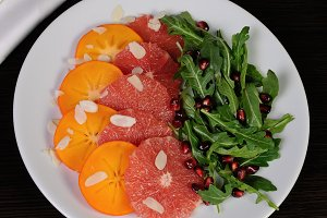 Salad of grapefruit