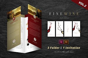 Fine Wine Vol.2 Folder & Invitation