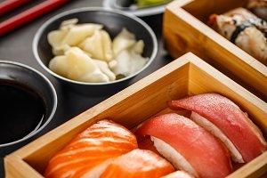 Fresh made sushi set