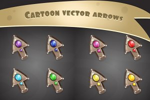 Set of metal Cursors/arrows