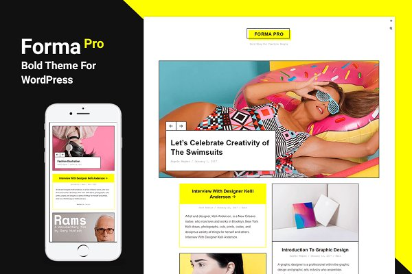 WordPress Magazine Themes: Just Good Themes - Forma Pro - Bold Theme For WordPress
