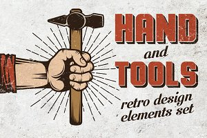 Hand and tools set