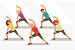 Aerobics. Vector illustration