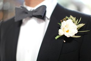 Sophisticated Groom with bowtie :)