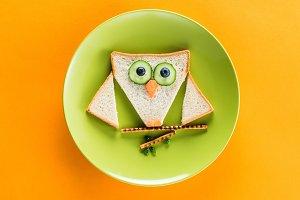 breakfast in shape of owl