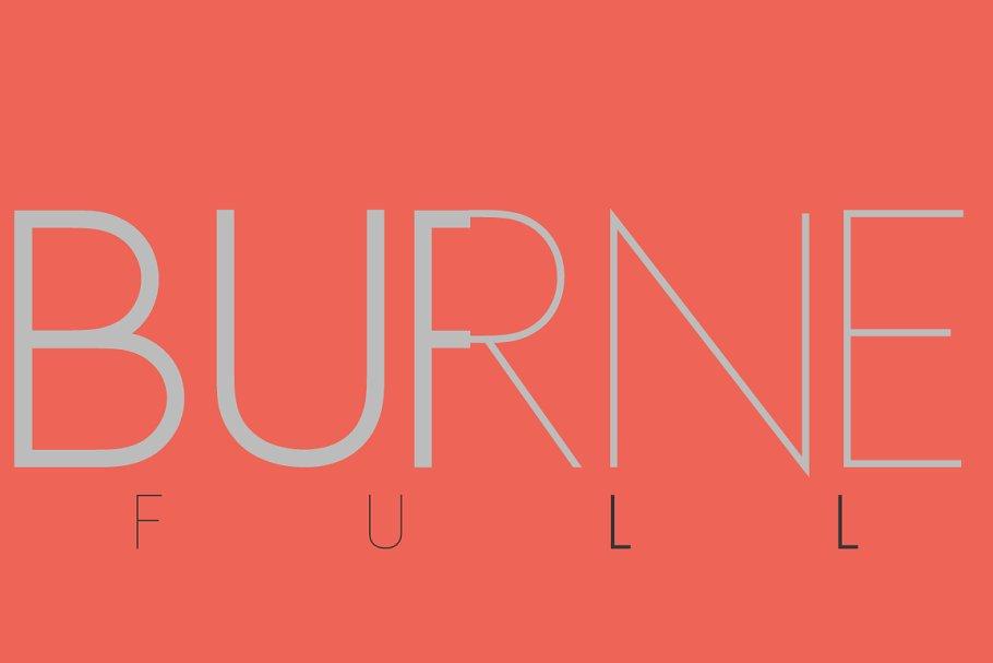 Burne Pack +WEB FONT LICENSE