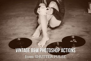 Vintage B&W Photoshop Actions