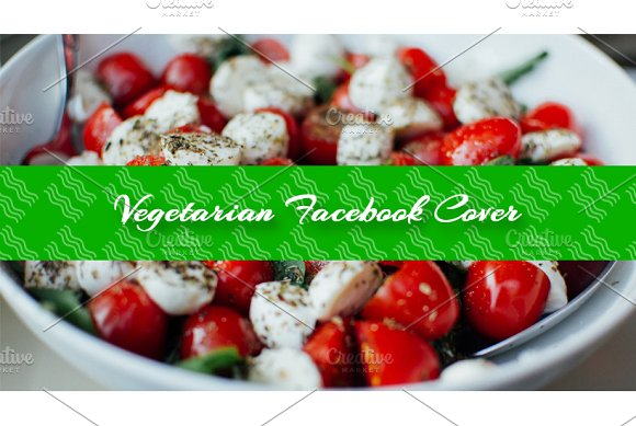 Vegetarian Food Facebook Cover Theme