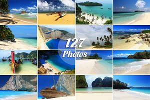 127 Photos of Beaches,BUNDLE