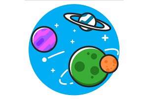 Planet space Icon
