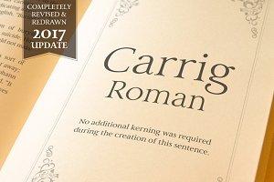 Carrig Roman—3 Elegant Serif Fonts