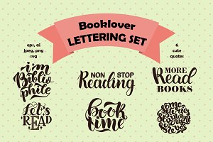 Cute collection of book lettering.