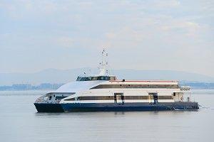 Modern Lisbon ferry boat, Portgual