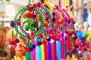 Thailand night market souvenirs