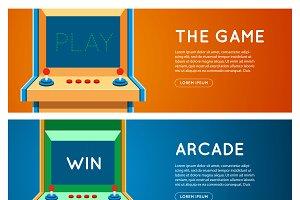 Arcade machine banner