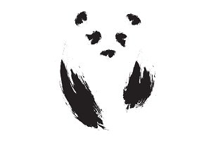 Panda. Hand drawn illustration.