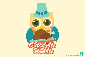 Digital Clipart Owlble Wobble
